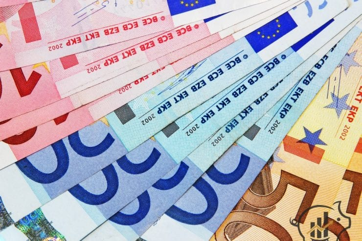 Euro cash money concept