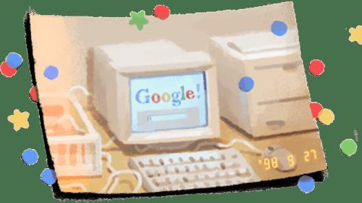 Google compie 21 anni, si autocelebra in un doodle