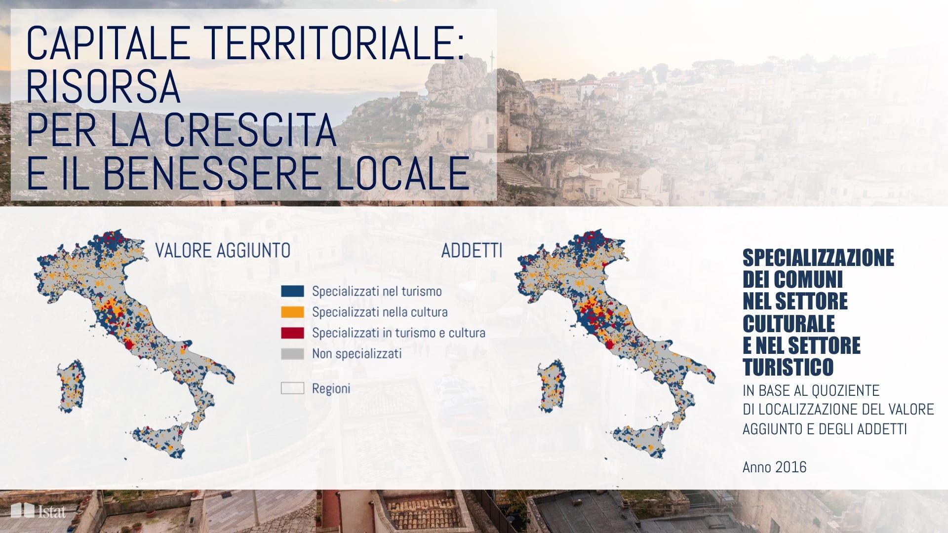 TERRITORIO, CULTURA E SVILUPPO: UNA LETTURA ATTRAVERSO IL RAPPORTO ISTAT 2019