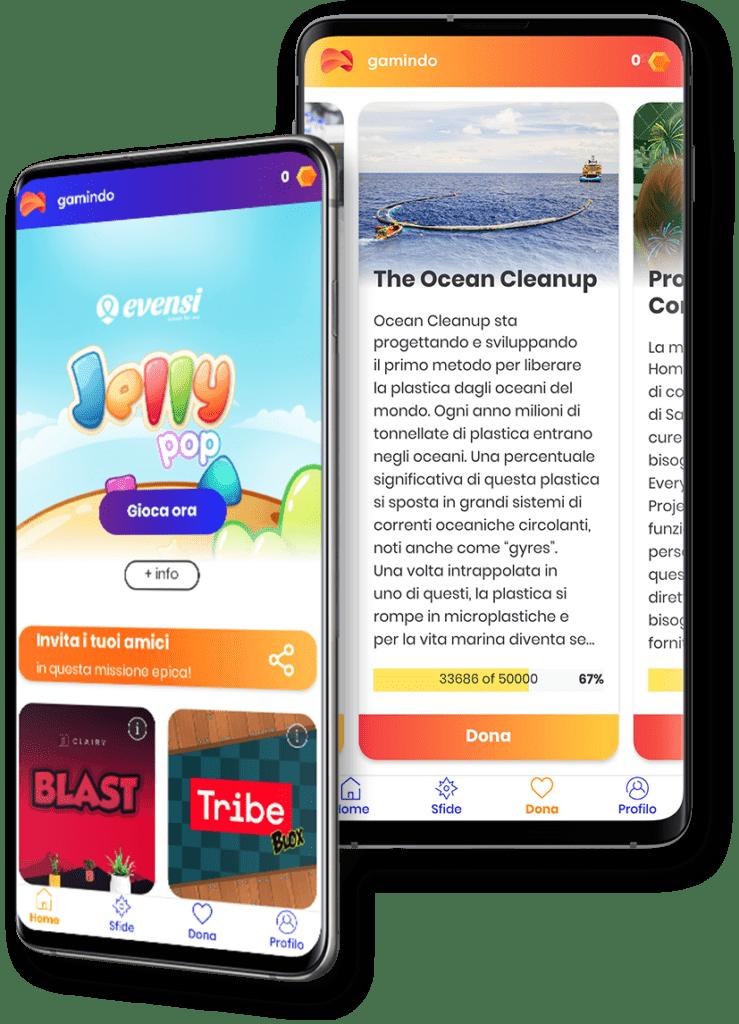 Gamindo, l'app che consente di giocare e supportare una causa