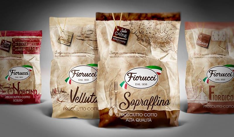 JacLeRoi firma il pack design dell'intera linea di prosciutti cotti Fiorucci