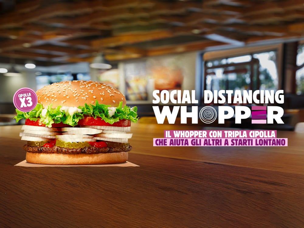 Nuova campagna Burger King: la cipolla per il distanziamento sociale